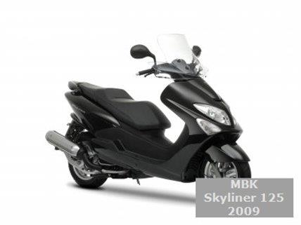 mbk skyliner 125 2009 katalog motocykl moto encyklopedie. Black Bedroom Furniture Sets. Home Design Ideas